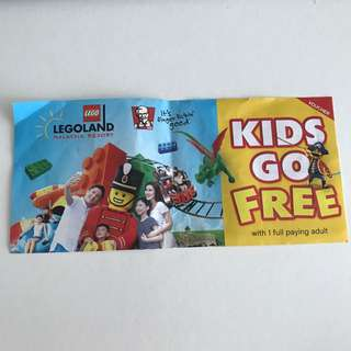 Legoland Kids Go Free Voucher