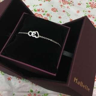 Mabelle 18k白金鑽石手鍊