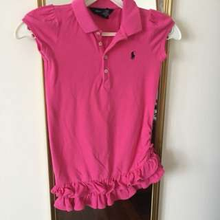 AUTHENTIC RALPH LAUREN 4T PINK COLLAR DRESS