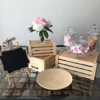 {RENT} Rustic Themed Dessert Table Set