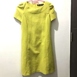 Zara Yellow Short Dress