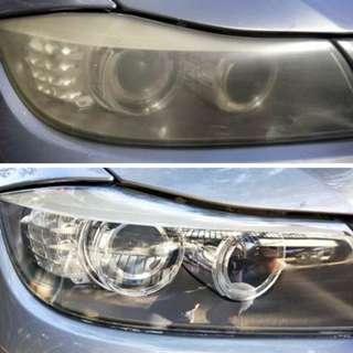 大燈快潔 現場施工 大燈 霧化翻新 福斯 LEXUS BMW BENZ Volvo INFINITI Porsche