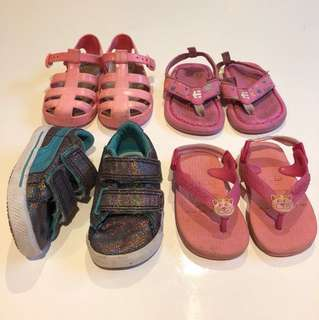 4x Girls (eu19-20) Shoe Bundle