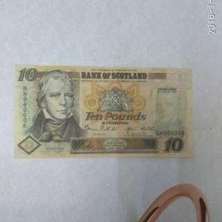 蘇格蘭拾英镑