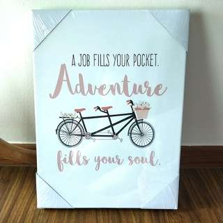 🍊💞CNY 50%TIME SALE!! 🐶 BRAND NEW!!! PASTEL THEME INSPIRATIONAL QUOTE CANVAS TO HANG AT HOME OR OFFICE OR SIMPLY AS A GIFT FOR YOUR BFF OR LOVED ONES!!! ONLY 1!! HURRY WHILE STOCK LAST!!! :)