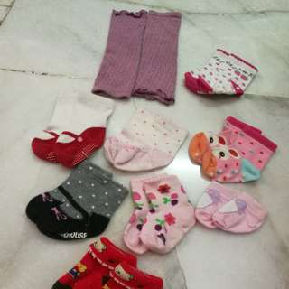 Baby Girl Socks and leg warmer