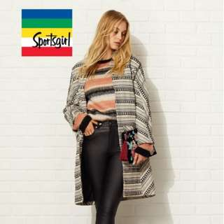 Boho Multi Stitched Coat from Sports Girl