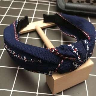 髮箍 髮圈 髮飾 打結 花色 布藝 針織 雪紡 打結髮箍