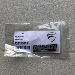 Ducati OEM 3D Plate + Flag Sticker (43815501A)