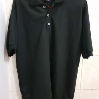 Basic Polo Shirt Hitam Size XL