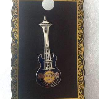 Hard Rock Cafe Pins - SEATTLE HOT 2011 SPACE NEEDLE GUITAR PIN!