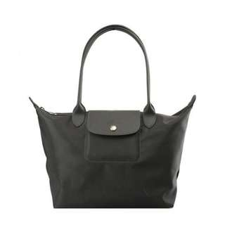 正貨 超特價 2017 秋冬色 Longchamp Le Pliage Neo Tote Bag GREY 長柄細size