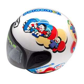 BMC Helmet Buddy Doraemon Nobita Fs (White/Red)