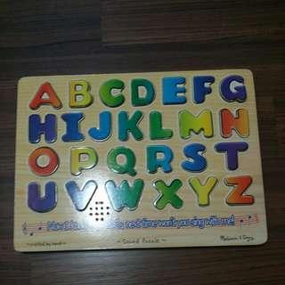 Melissa & Doug Alphabet Abc Sound Puzzle