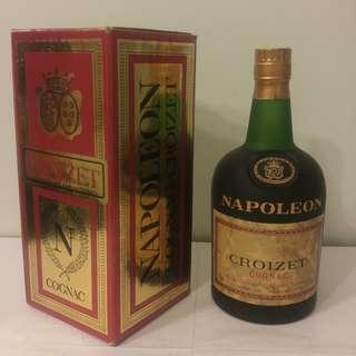 (6B39) 約70-80年代 Croizet Napoleon 700ml 40% (有盒) 日本法國舊酒洋酒威士忌白蘭地干邑拿破崙whisky brandy cognac xo vsop napoleon
