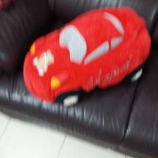 Pretty Red Racing Car Cushion