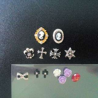 Nail Arts Rhinestone Decorations/Chrome hearts/ flowers