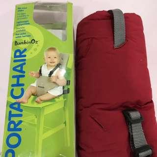 Portable light weight high chair