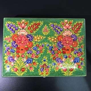 高級印度手繪珠寶盒 木盒
