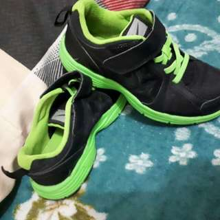 Black & Green Rubber Shoes for kids