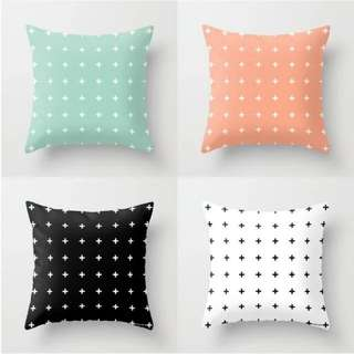 Cross / Plus Patterned Cushion Throw Pillow Cover