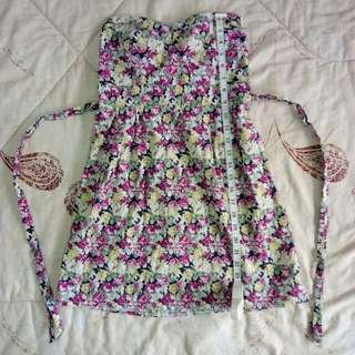 Mint Floral Sweetheart Dress