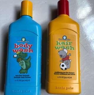 Koala pals body wash and hair wash