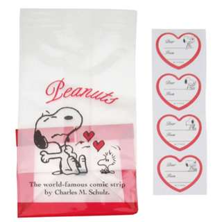 Japan Peanuts Snoopy Clear Bag S (heart)