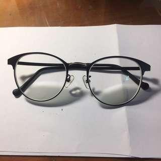 簡約韓國鏡框有度數眼鏡(抗藍光鏡片)
