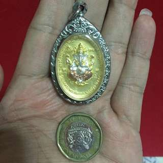 Ganesha And Four Face Buddha Amulet