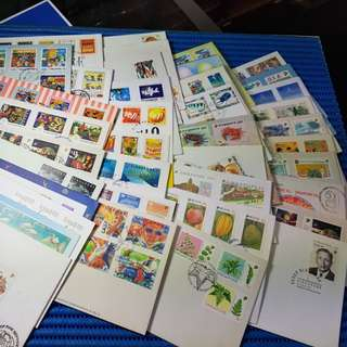 1980 to 1999 Singapore First Day Cover  ( Lot of 40 Different FIrst Day Cover )