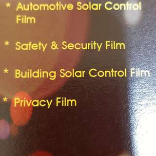 Window Solar(UV) Films