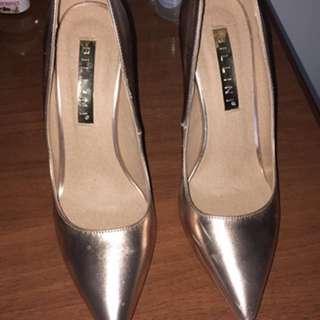 "Billini ""Faye"" Rose Gold Heels"