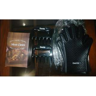 Dante bear claws (for pulled meat) with Silicone gloves