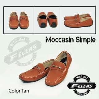 Sepatu Casual Fellas Moccasins Tan