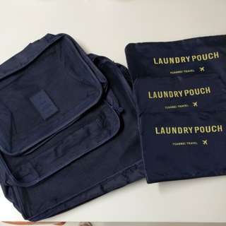 Laundry pouch for traveling (dark blue)