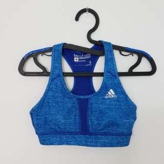Adidas TechFit ClimaCool Sports Bra - Royal Blue, S