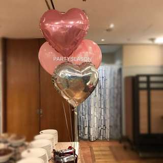 Valentines day special Helium balloon bundle