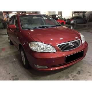 TOYOTA ALTIS ONLY $180.00 FROM 02/02-05/02/2018 (P PLATE WELCOME)