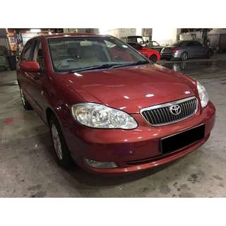 02/02 - 05/02 TOYOTA ALTIS ONLY $180.00 ( P PLATE WELCOME)