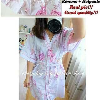 Adelle Kimono Pajamas Real pic,