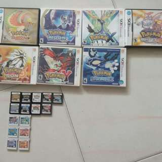 Pokemon 3ds and ds games