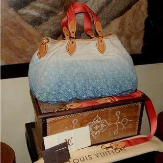 LOUIS VUITTON limited edition mono denim sunlight bag (2010)