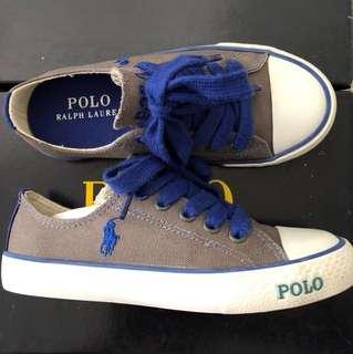 PL Ralph Lauren Grey Carson Laceless Boy Shoes