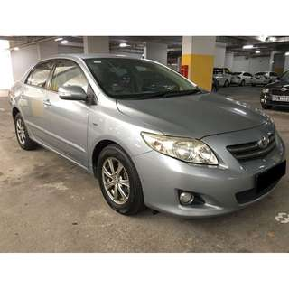TOYOTA ALTIS NEW ONLY $195.00 FROM 02/02-05/02/2018 ( P PLATE WELCOME)