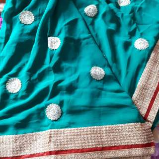 Bollywood Saree with Blouse Piece Attached