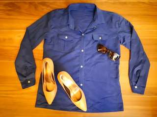 Repriced!!! Longsleeves Outfit= Navy Blue