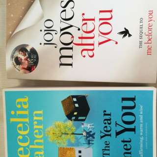 Cecelia Ahern and Jojo moyes books,  as good as new