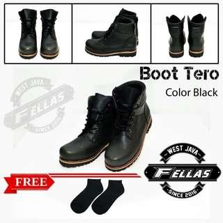 Sepatu Boots Fellas Tero Black