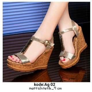 Sandal wanita wedges ag 02 2 warna